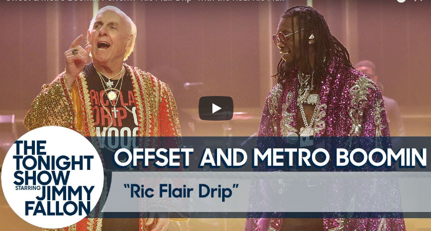 Ric Flair Drip performance on Tonight Show sparks appearance by Nature Boy himself