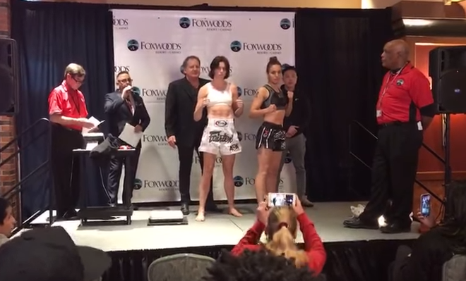 Lion Fight 42 Weigh In Video from Foxwoods Casino