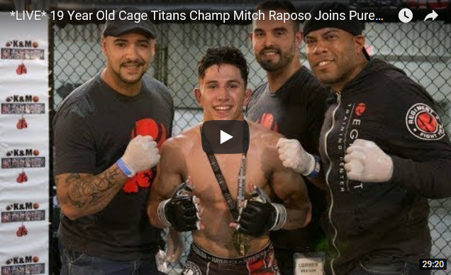 19-Year-Old Cage Titans Champ Mitch Raposo Joins Pure EVil MMA