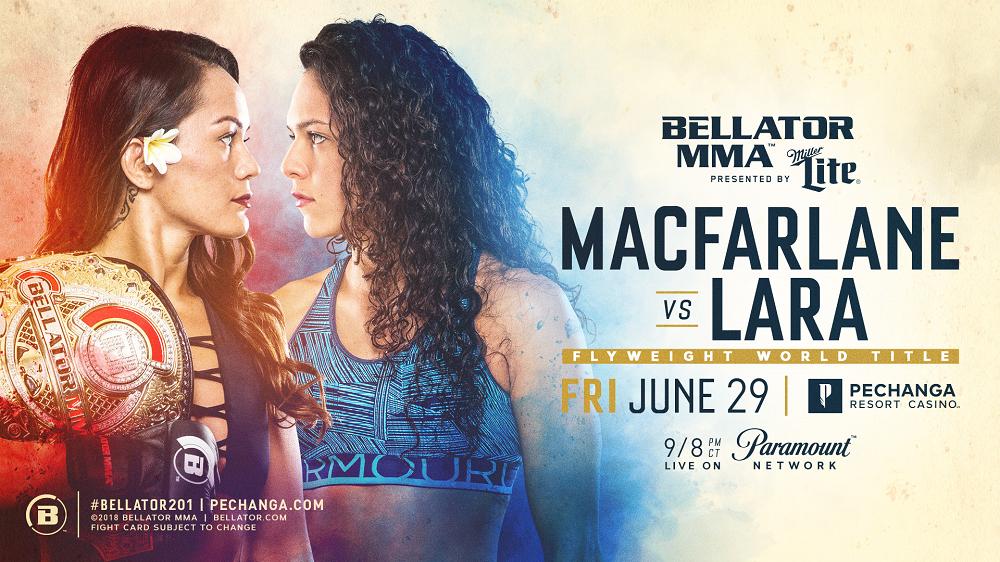 Ilima-Lei Macfarlane Makes First Flyweight Title Defense Against Alejandra Lara at Bellator 201 on June 29