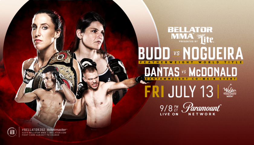 Julia Budd Defends Her World Title Against Undefeated Talita Nogueira at Bellator 202 on July 13