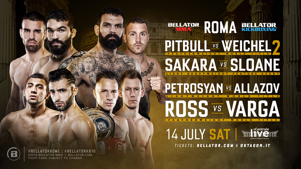 Bellator Hosts First-Ever Event in Rome on July 14