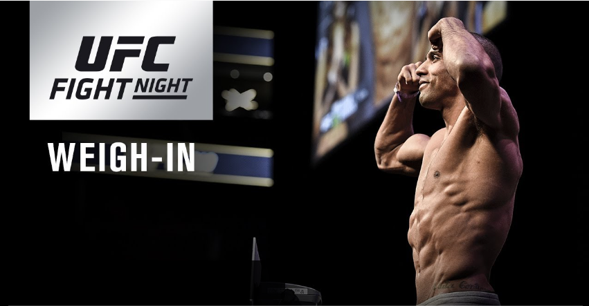 UFC Fight Night 128 weigh-in results, video from Atlantic City