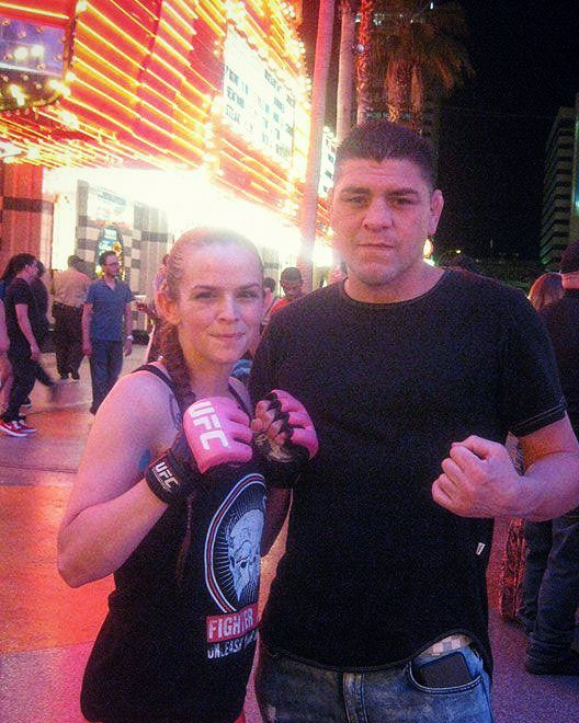 Ashlee Gambino and Nick Diaz