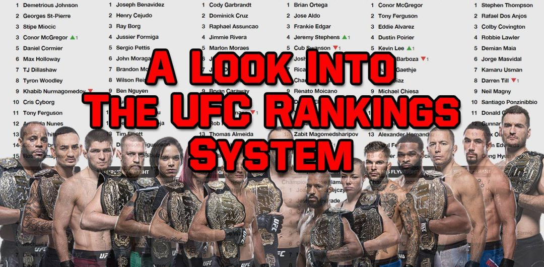 A Look Into The UFC Rankings System – Who is doing the voting?