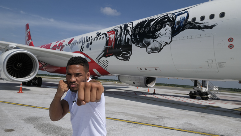 Kevin Lee, AirAsia launches UFC branded livery