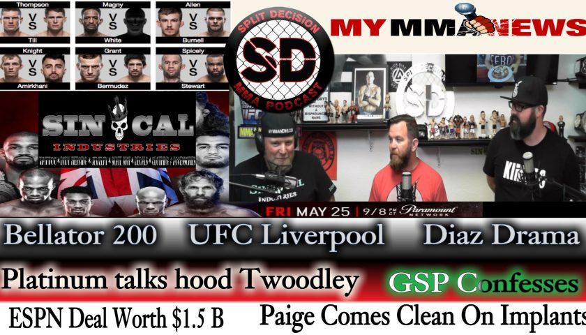 Split Decision MMA:  ESPN Deal, Nick Diaz arrested, Paige got upgrades, more