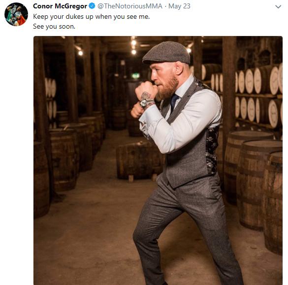 Conor McGregor tweet