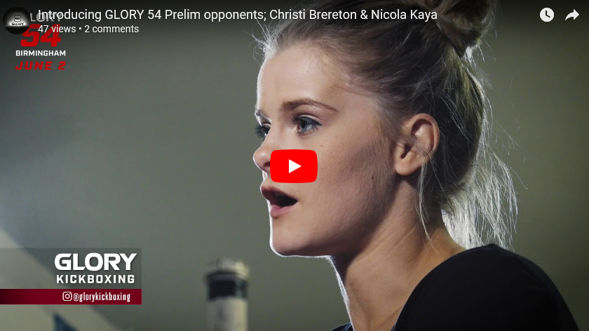 GLORY 54 Prelims FeatureFive Fights Highlighted by Christi Brereton vs. Nicola Kaye
