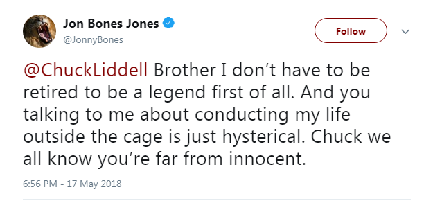 jon jones response to Chuck Liddell