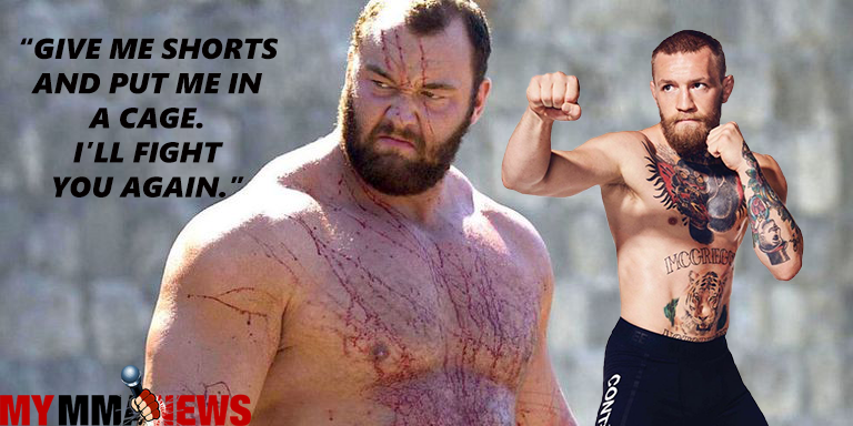 The Mountain Wants a Rematch With Conor McGregor