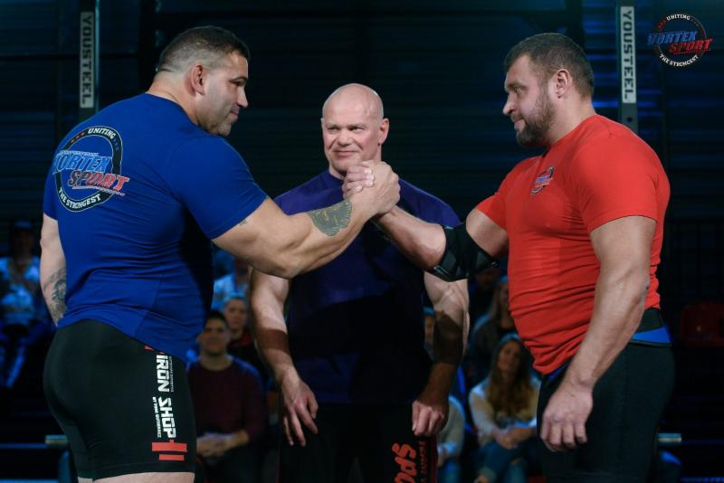 Strongmen enter The Rage at M-1 Challenge 92, May 24 in Saint Petersburg, Russia