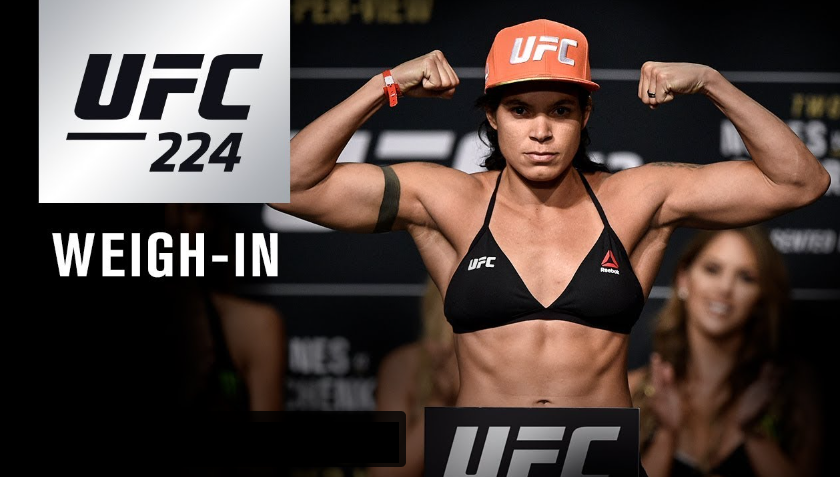 UFC 224 weigh-in results and ceremonial video stream