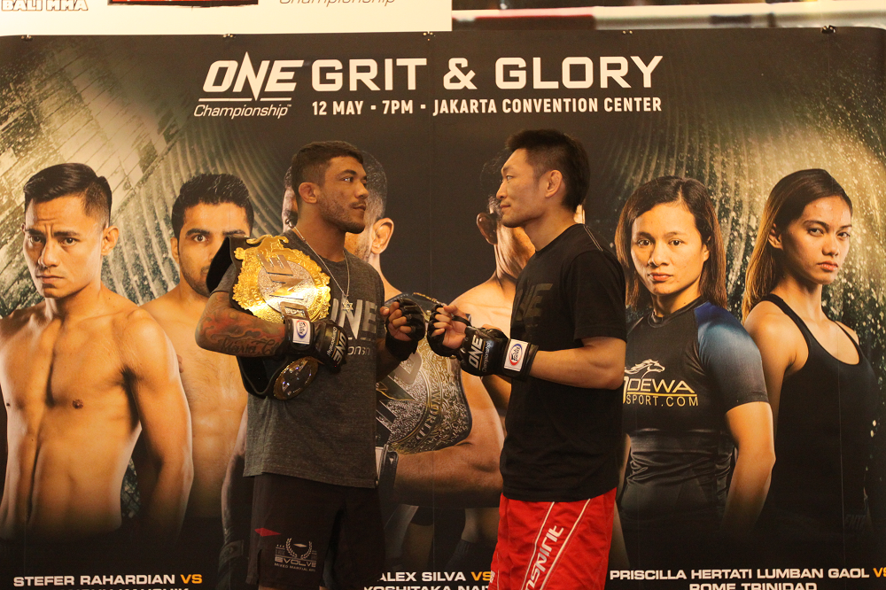 Alex Silva and Yoshitata Naito face off at ONE: Grit and Glory open workout