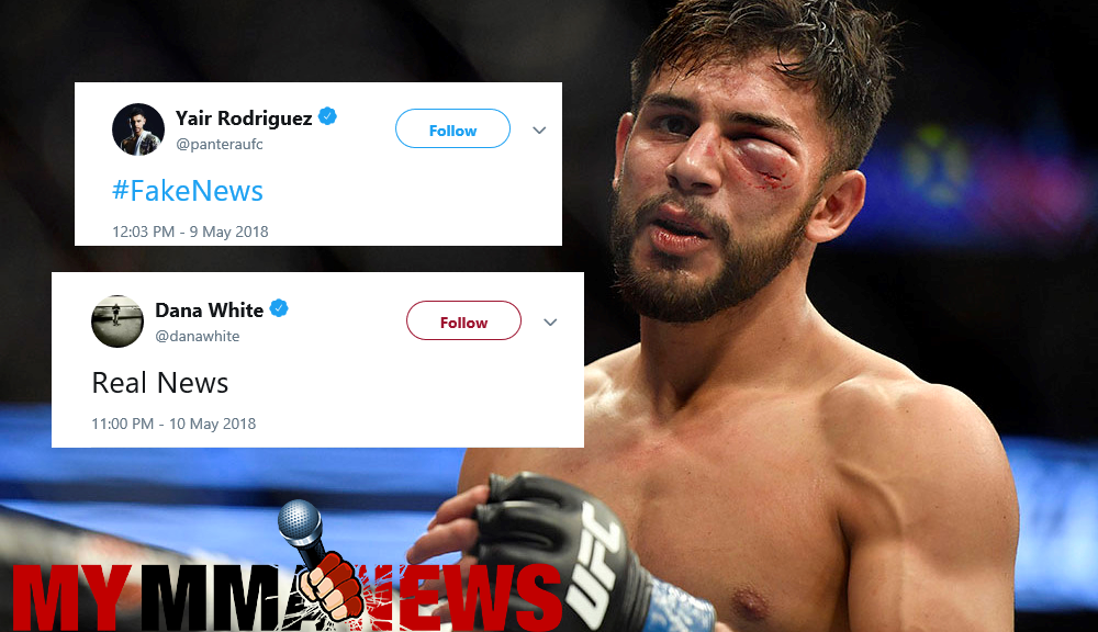 Yair Rodriguez cut by UFC after not accepting multiple fights