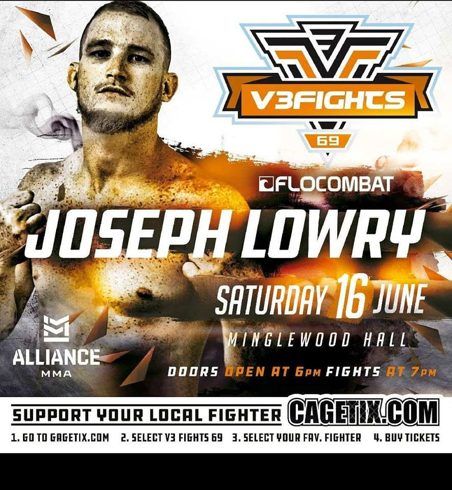 Joey Lowry, V3 Fights 69