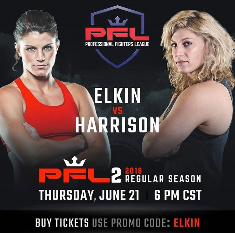 Brittney Elkin vs Kayla Harrison, PFL 2