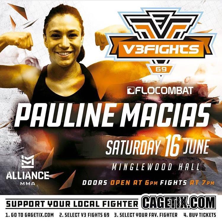 Pita Macias, V3 Fights 69, Pauline Macias