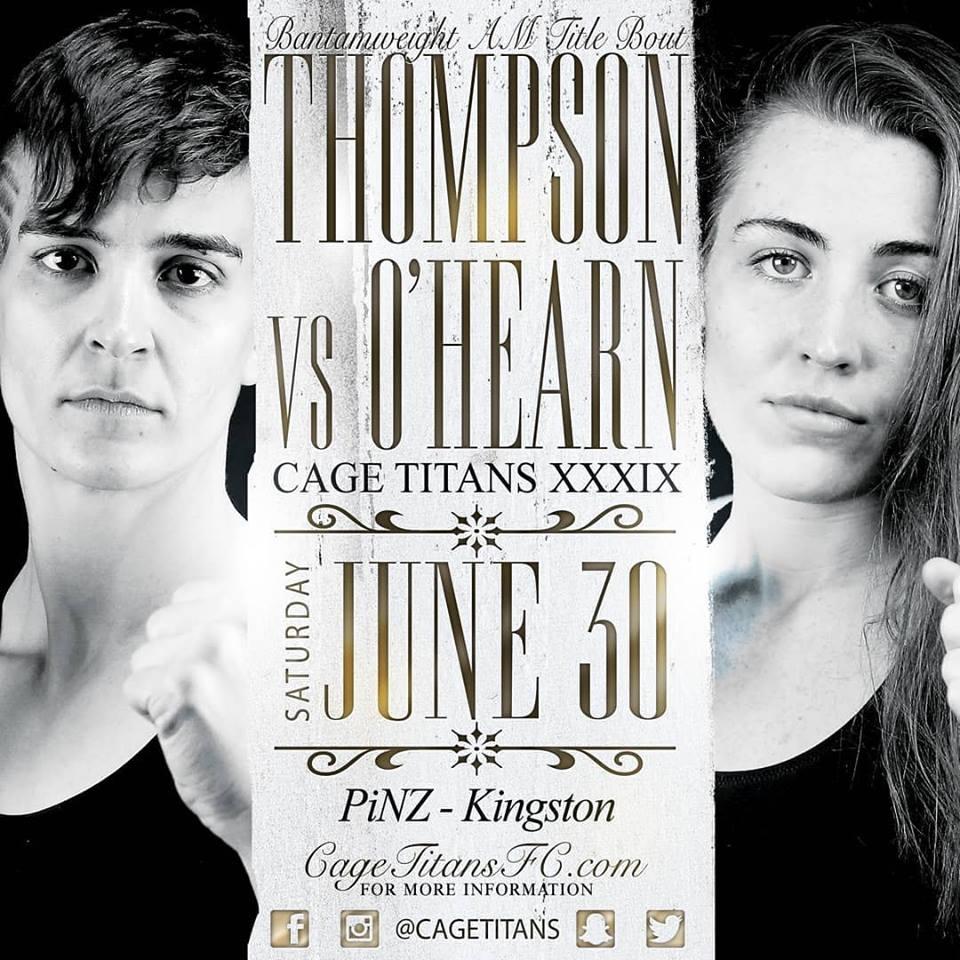 Taylor Thompson, Cage Titans