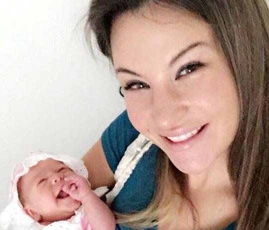 Miesha Tate and baby