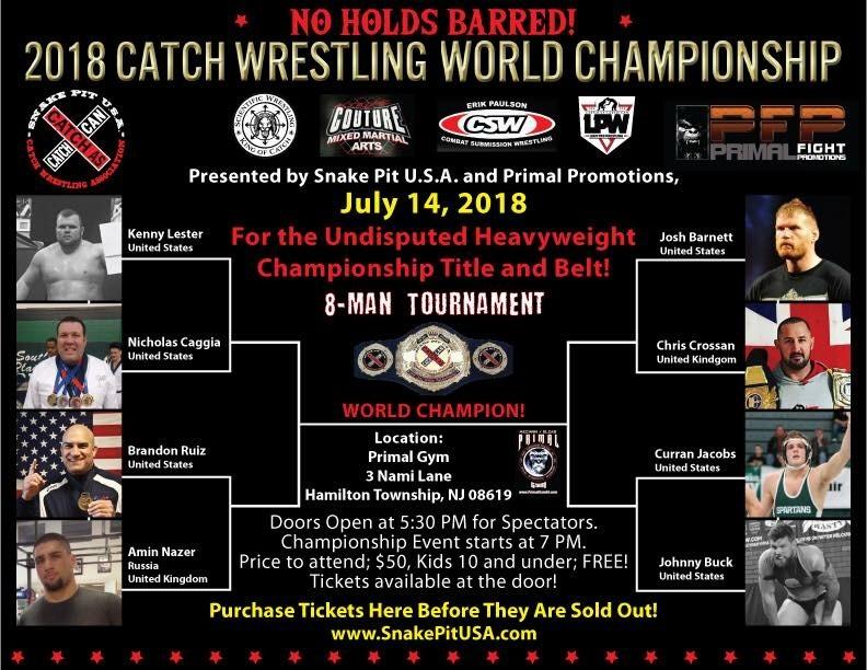 Josh Barnett, 2018 Catch Wrestling Championship Weekend