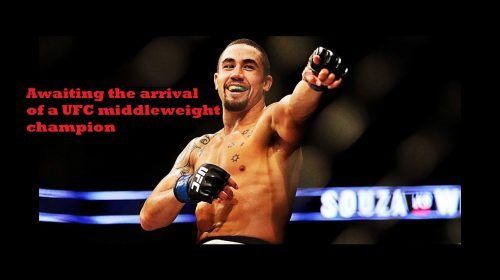 Awaiting the arrival of a UFC middleweight champion