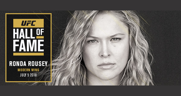 Ronda Rousey first woman to be inducted into UFC Hall of Fame