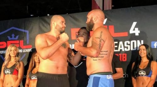 PFL Featherweights and Heavyweights Weigh-In Before Their Return to Cage for PFL4 and Make-or-Break Fights Heading Into October Playoffs