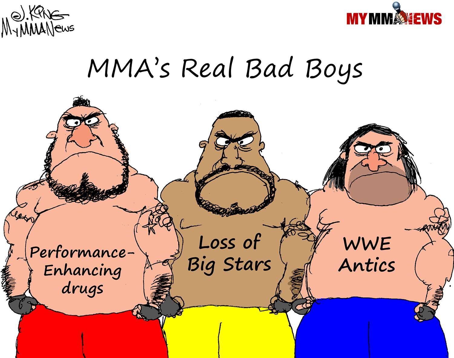 Bad Boys, MyMMANews Cartoon of the Week