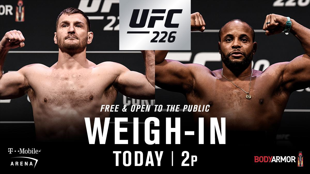 UFC 226 weigh-in results - Stipe Miocic vs Daniel Cormier