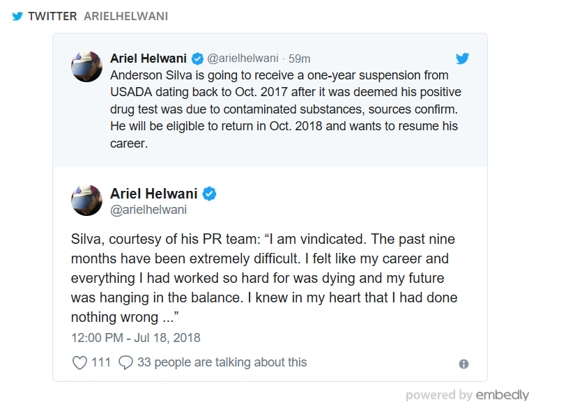 Ariel Helwani, Anderson Silva