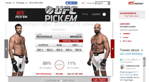 app, UFC Pick 'Em app