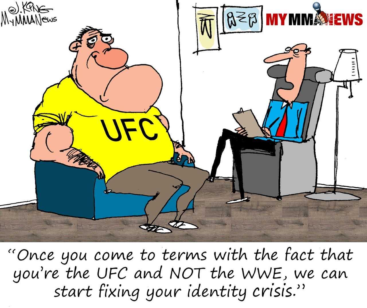 identity crisis, UFC, WWE