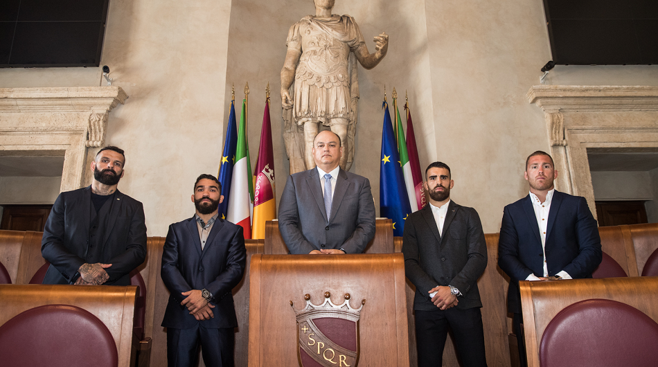 Bellator takes over of Rome's Capitol Hill ahead of Bellator 203 and Bellator Kickboxing 10