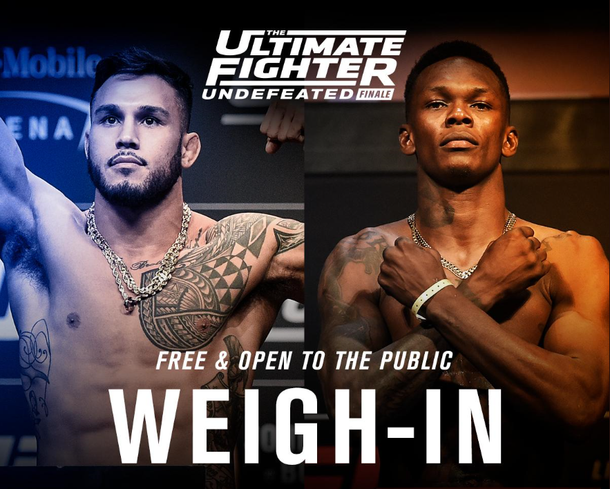 TUF 27 Finale Weigh-in Results - Brad Tavares vs. Israel Adesanya