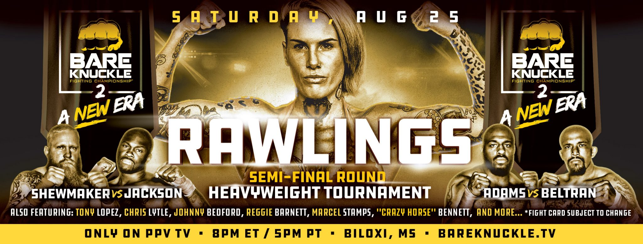 Bare Knucle FC 2 results - Bec Rawlings vs. Britain Hart