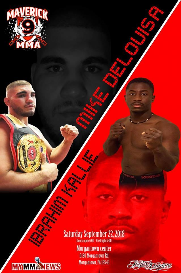 Maverick MMA 8, Ibrahim Kallie, Michael DeLouisa