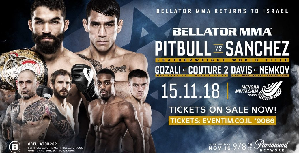 Featherweight Title Fight Between Patricio 'Pitbull' & Emmanuel Sanchez Headlines Bellator's Return to Tel Aviv, Israel on Nov. 15