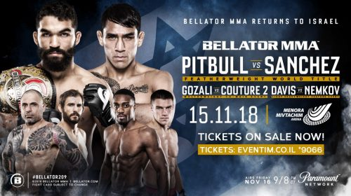 Featherweight Title Fight Between Patricio 'Pitbull' & Emmanuel Sanchez Headlines Bellator's Return to Tel Aviv, Israel on Nov. 15