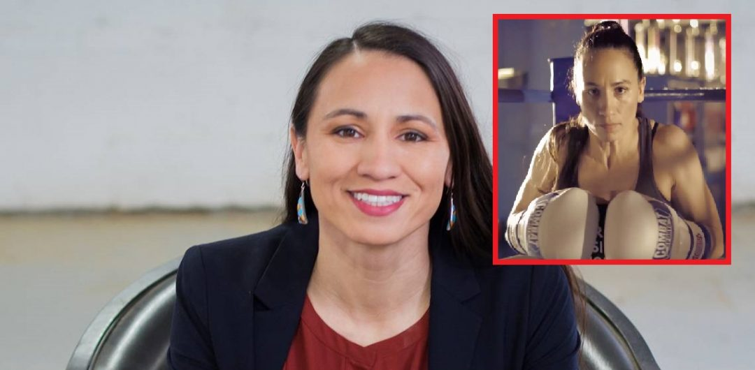 How did Sharice Davids trade in MMA for a shot at political history?