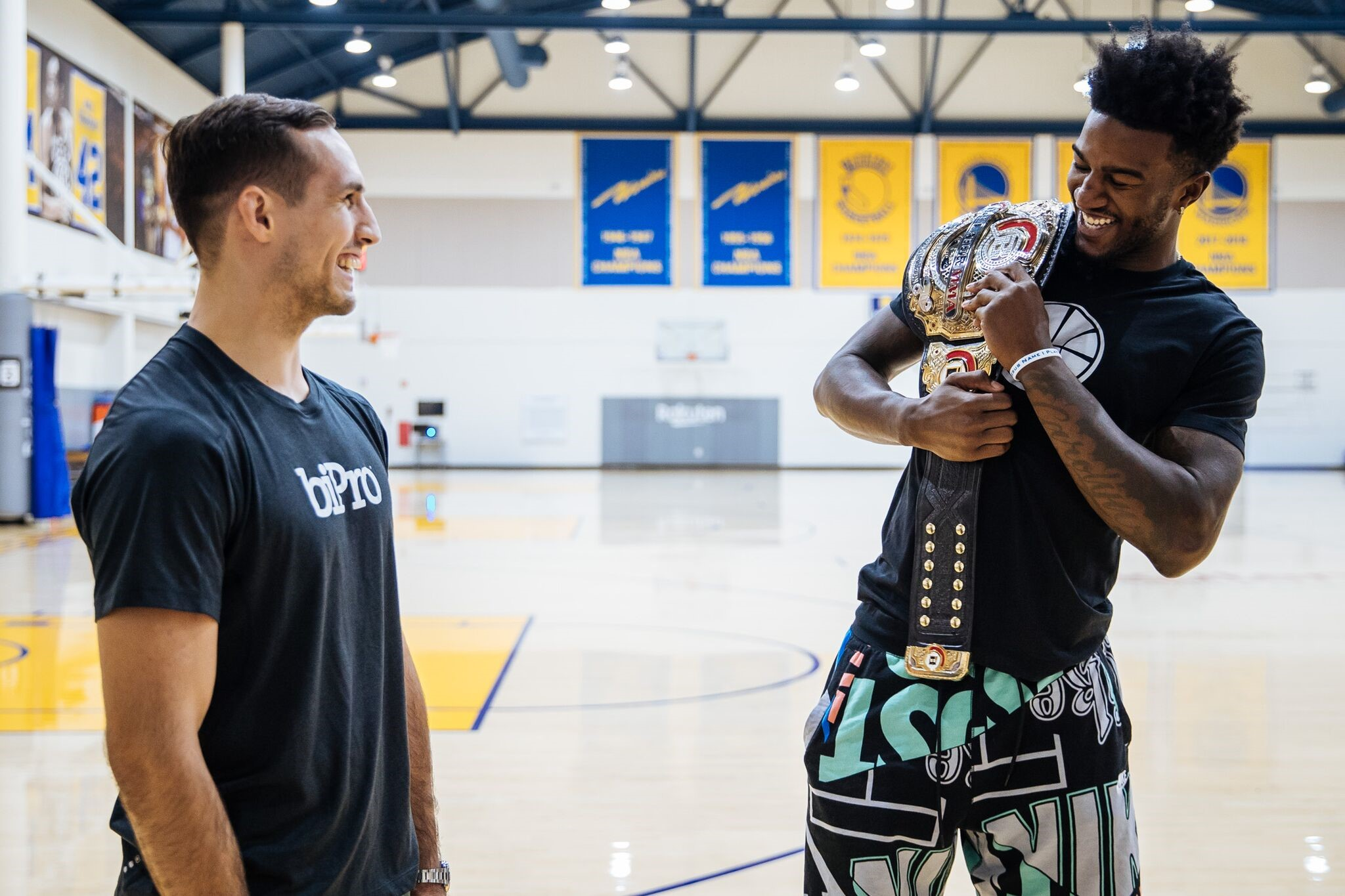 MMA super-fan and Warriors center Jordan Bell was reluctant to give Rory MacDonald his belt back.