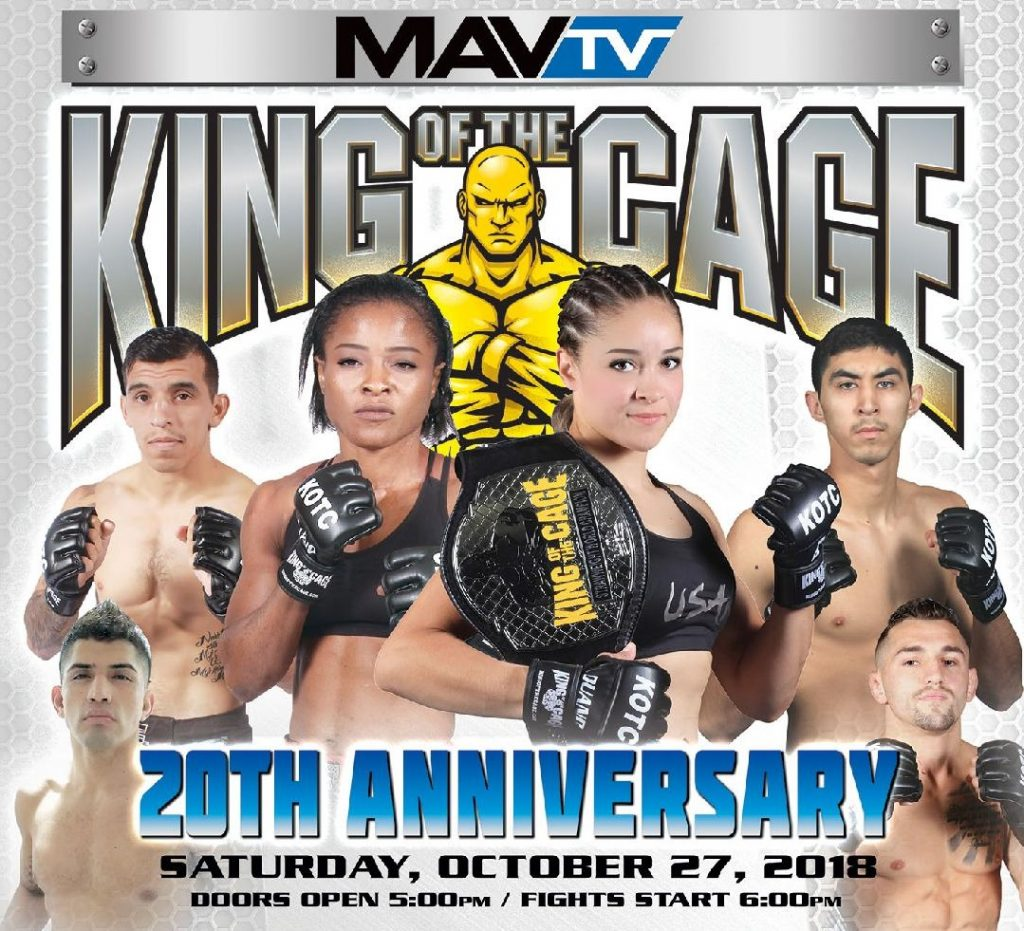 King of the Cage to celebrate 20th anniversary on October 27