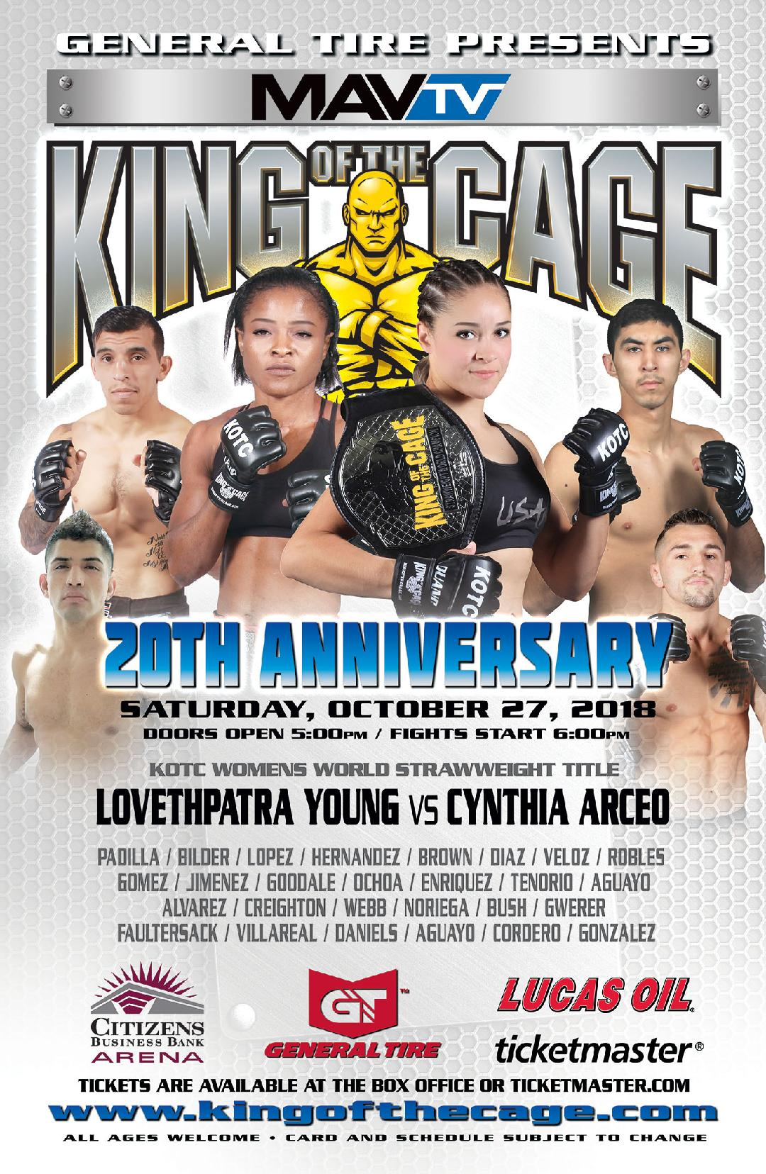 King of the Cage: Duke City, Results