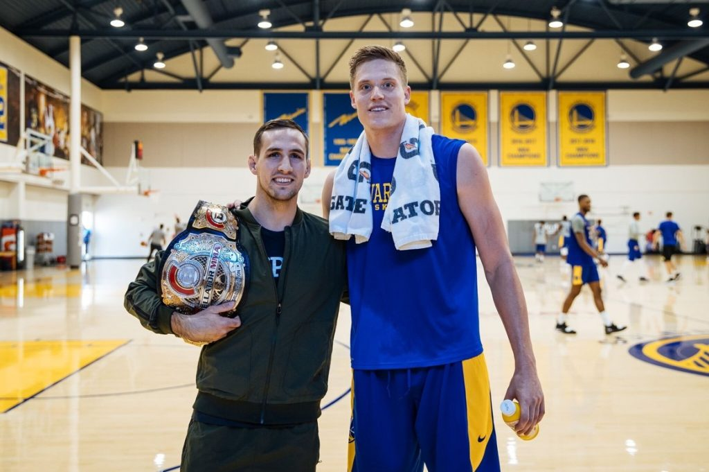 """Bellator 206, Rory MacDonald and his long-time fan, Jonas Jerebko of the Warriors, who wished the Bellator MMA fighter good luck for Saturday and took to social to praise him as someone who """"always puts on a show."""""""