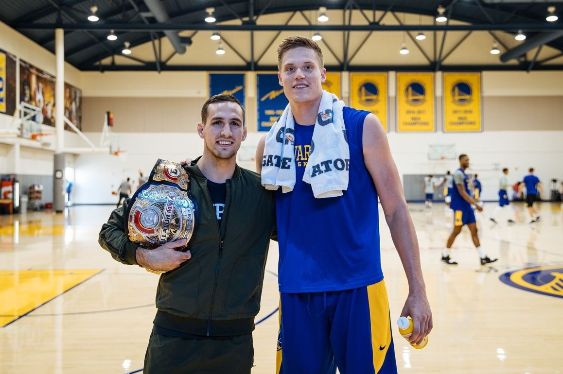 "Rory MacDonald and his long-time fan, Jonas Jerebko of the Warriors, who wished the Bellator MMA fighter good luck for Saturday and took to social to praise him as someone who ""always puts on a show."""