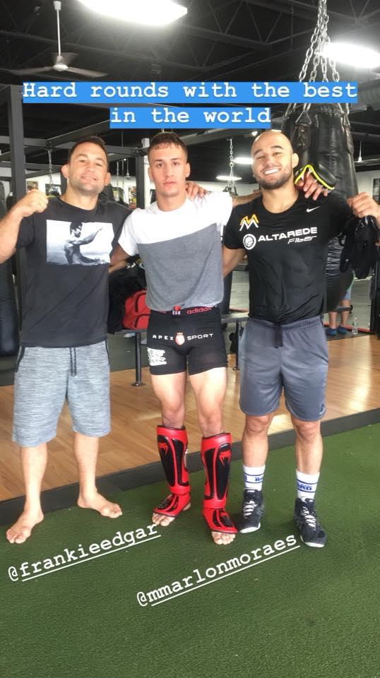 Frankie Edgar, Phil Caracappa, Marlon Moraes