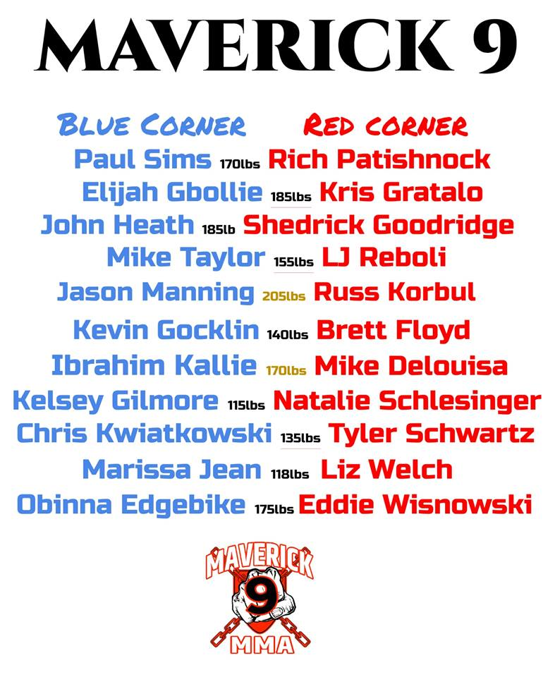 Maverick MMA 9 fight card