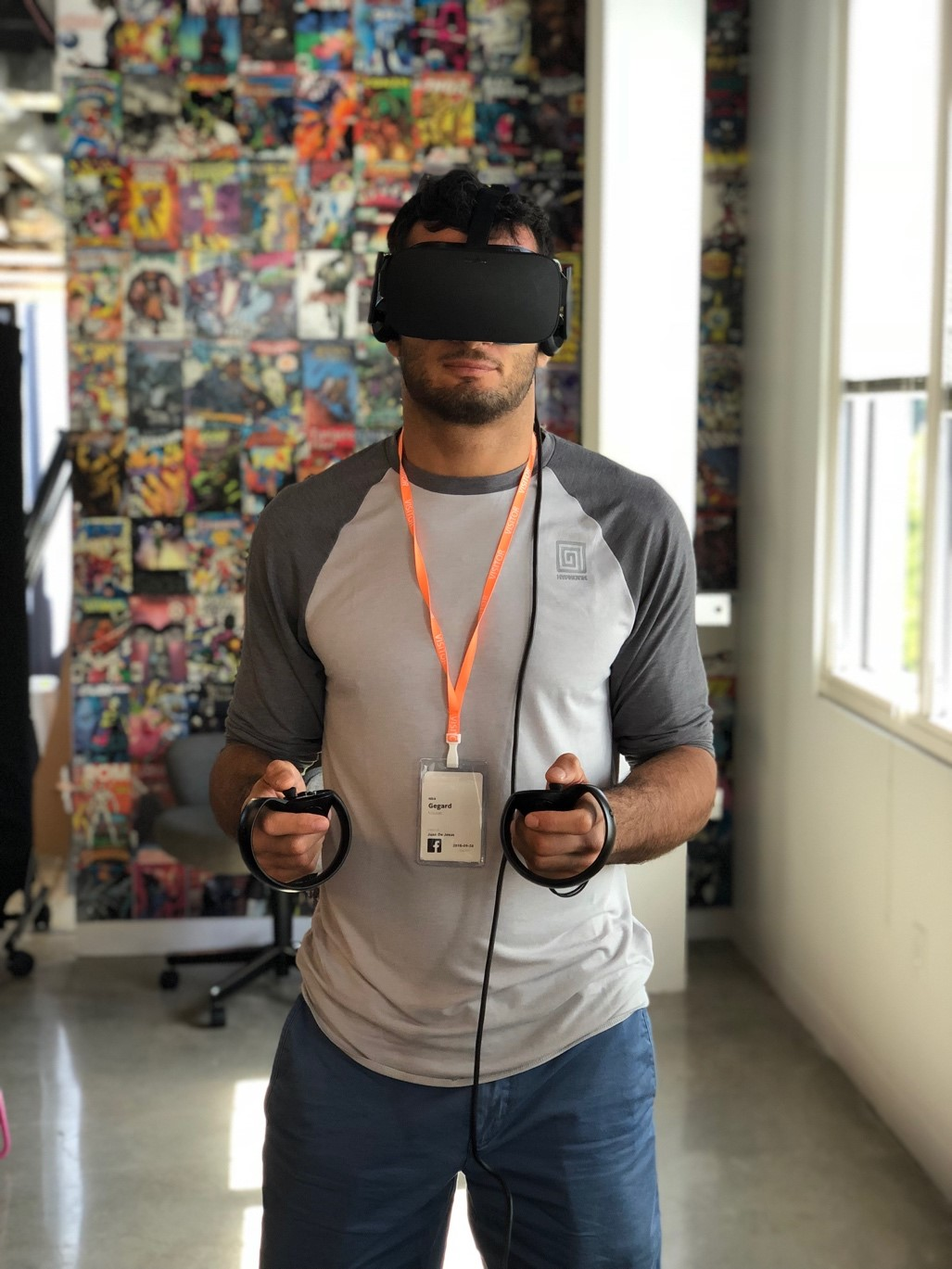Gegard Mousasi gets his virtual fight training on with the brand new Oculus Rift 5.