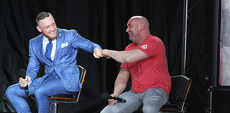 Conor McGregor, Dana White