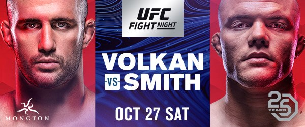 UFC debuts in Moncton with clash between light heavyweight knockout artists